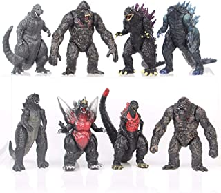 Set of 8 Mini Godzilla Vs Kong Action Figures Adjustable Godzilla Monster Toys Set for Boys Kids Children's Day Gift