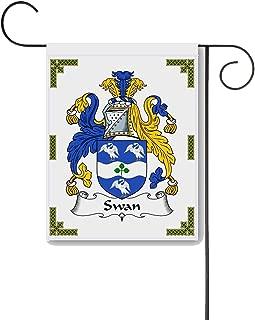 Carpe Diem Designs Swan Coat of Arms/Swan Family Crest 11 X 15 Garden Flag – Made in The U.S.A.