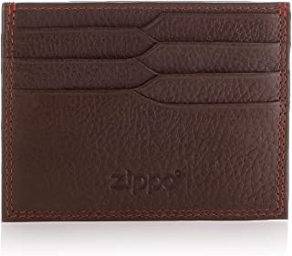 Zippo Leather Credit Card Holder Credit Card Case, 10 cm;,Brown