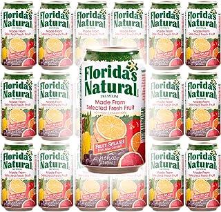 Florida Natural Fruit Splash Cocktail Juice, 11.5oz Can (Pack of 18, Total of 207 Oz)