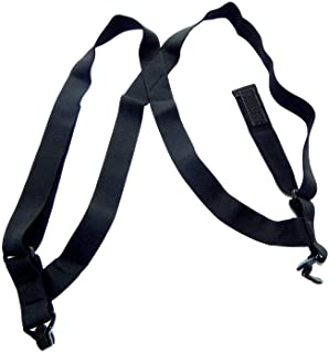 Holdup Brand All Black hidden Undergarment Hip Clip no-alarm Suspenders with Patented Gripper Clasps