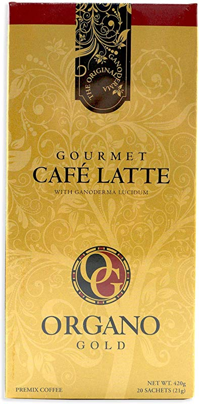 Organo Gold Gourmet Cafe Latte Coffee With Ganoderma Lucidum 1 Box Of 20 Sachets