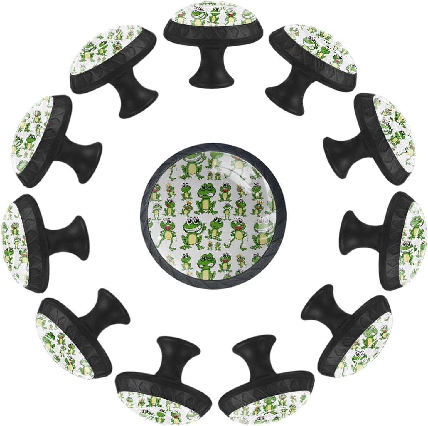 AURELIOR Cartoon trust trust Cute Frog Pattern Ha Cabinet Handle Green Pull