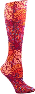 Celeste Stein Therapeutic Compression Socks, Bright Vintage Floral, 8-15 mmHg, Mild