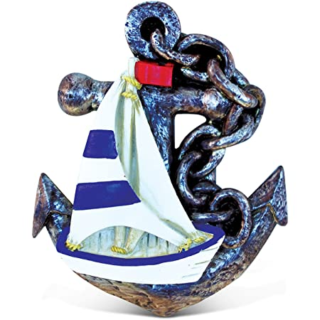 Cota Global Anchor With Rope Refrigerator Nautical Magnet Maritime Decoration Anchor Resin Beach Design Fun And Cute Ocean Magnet For Kitchen Fridge Locker Home Decor And Office Decor Novelty Kitchen