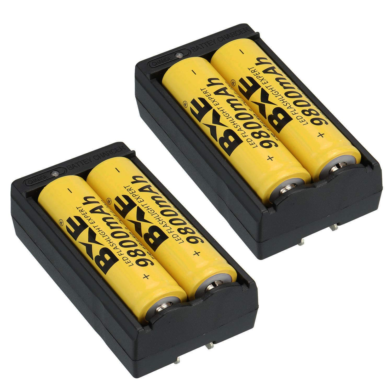 BXE Rechargeable Batteries Flashlight Headlamp