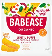 Babease Organic Lentil Puffs with Cheddar Cheese & Chives 20g