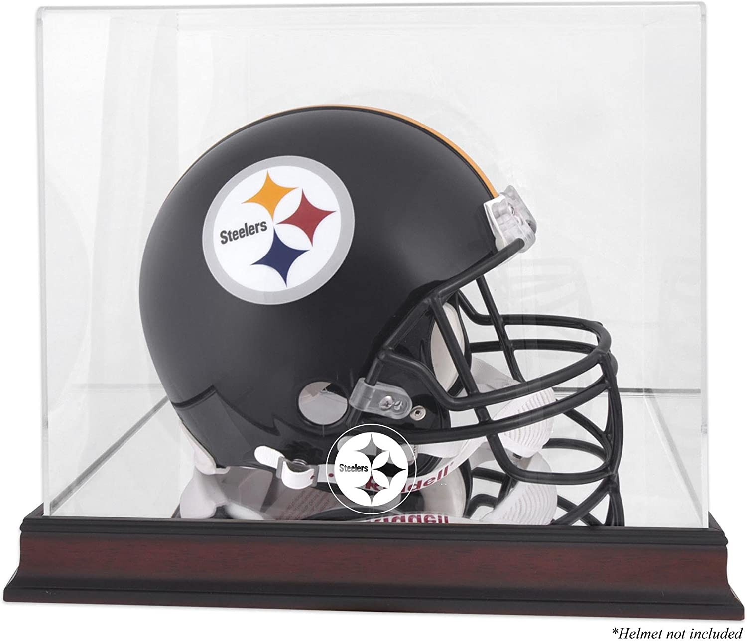Pittsburgh Steelers Large special price Mahogany Helmet Logo Mirro with Case Display Tulsa Mall