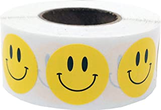 Yellow Happy Face Stickers, 19 mm 3/4 Inch Circle Labels 500 Pack