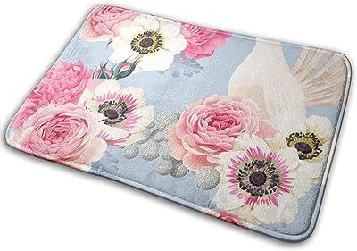 Door Mats Wedding Flowers Floor Mat Indoor Outdoor Entrance Bathroom Doormat Non Slip Washable Welcome Mats Decor 23.6 x 15.7 inch