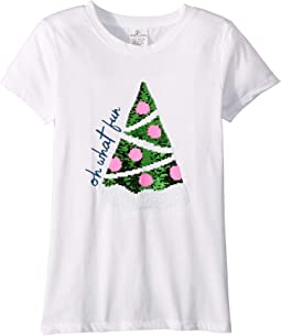 Magical Two-Way - Christmas Tree Pizza - Short Sleeve (Toddler/Little Kids/Big Kids)