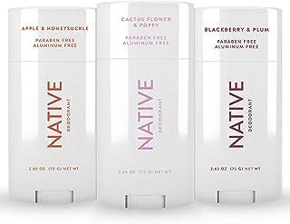 Native Deodorant - Natural Deodorant For Women and Men - 3 Pack - Contains Probiotics - Aluminum Free & Paraben Free, Natu...