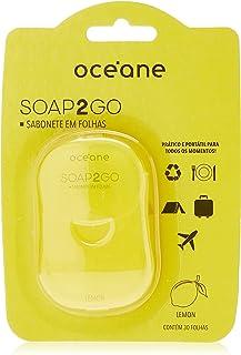Sabonete em Folhas Limão Blister, Sop2Go, Océane, Amarelo/Embalagem