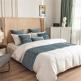BAMCQ Gray Bed Corredores Moderna Cama Bufanda de Toallas de Lujo de la Cama Cubierta Colcha Protección Decoración para Dormitorio del Hotel Sitio de la Muestra,Grey-45 * 180cm(for 1.5m Bed)