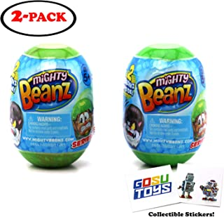 Mighty Beanz 2 Pack Pod Capsule Season 2 (2 Packs) with 2 GosuToys Stickers