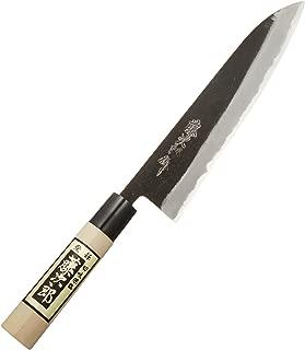 Tojiro Cuchillo Japones - Cuchillos de Cocina Profesionales - Acero Shirogami - Cuchillo Chef para Carne Pescado y Verduras - Cuchillo Cebollero Profesional - Santoku Para Sushi y Sashimi - 21 cm F-694