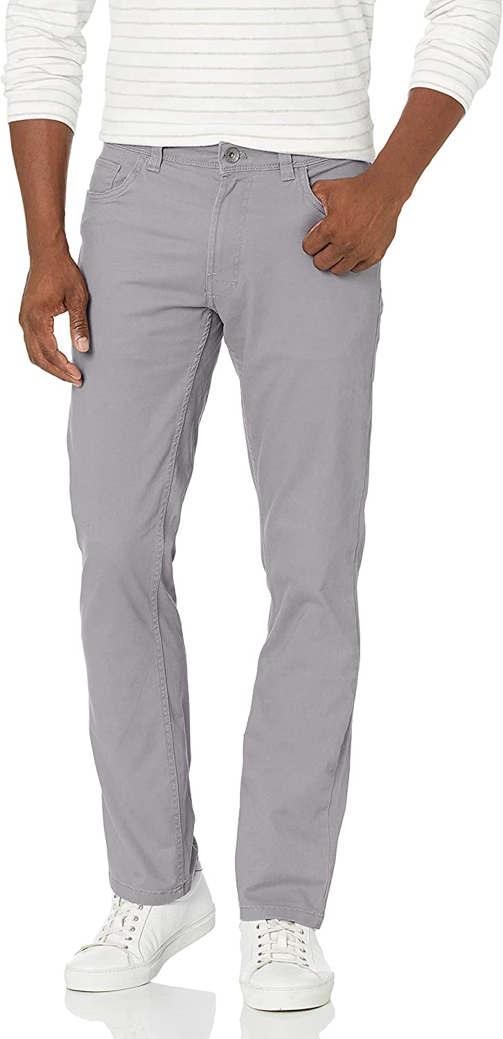 IZOD Men's Saltwater 5-Pocket Straight Fit Chino Same day shipping Pant Baltimore Mall