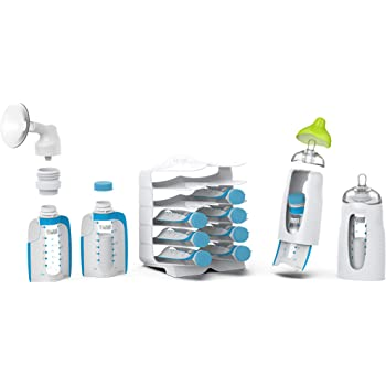 Kiinde Twist Universal Direct-Pump Feeding System Starter Kit for Leak-Free and Transfer-Free Breastmilk Collection, Freezing, Heating and Feeding, New Mom Gift