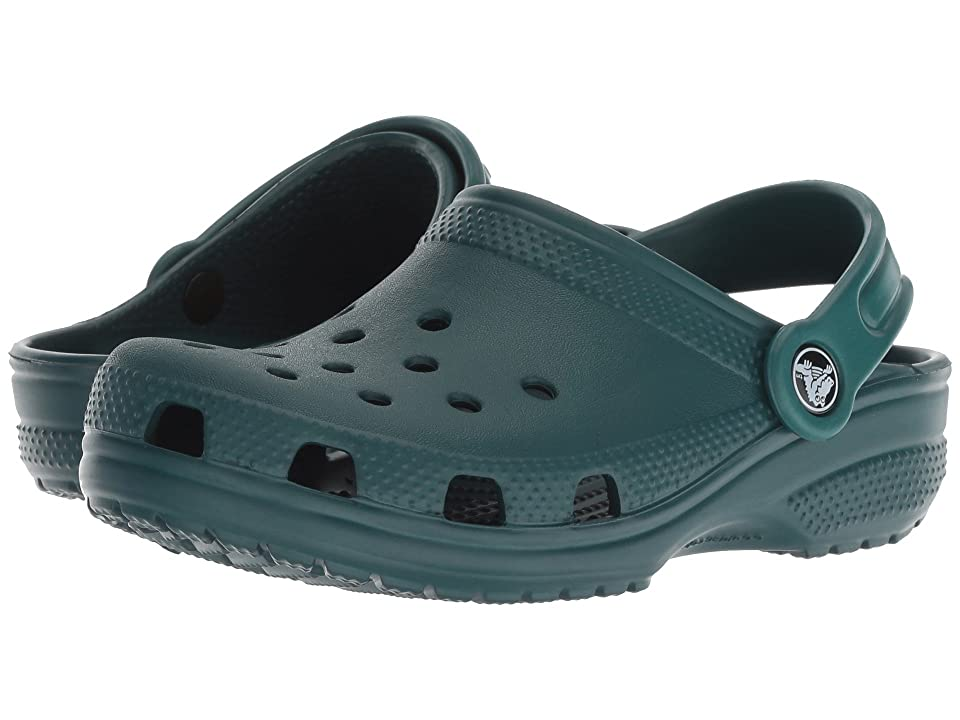 Crocs Kids Classic Clog (Toddler/Little Kid) (Evergreen) Kids Shoes