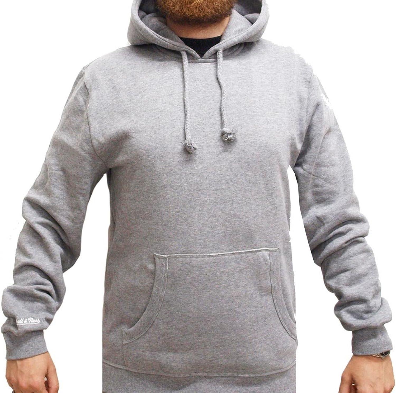 Mitchell & Ness Heather Grey grey Meliert Blank Blanko Hoody Hoodie Sweater Herren Mens