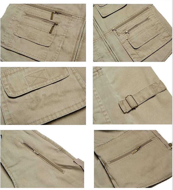 Men's Camo Fishing Vest,Multi-Pockets Work Outdoors Travel Sports Sleeveless Jacket Casual Waistcoat,C,4XL