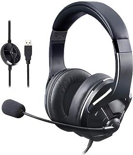 AmazonBasics - Gaming-headset, met microfoon voor de pc, zwart
