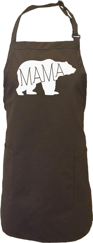 Mama Bear Apron with 2 patch pockets