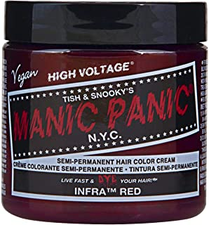 Manic Panic Semi-Permament Haircolor Infra Red 4 Ounce Jar (118ml) (6 Pack)