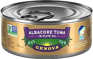 Genova Premium Albacore Tuna in Olive Oil with Sea Salt, Wild Caught, Solid White, 5 oz. Can (Pack of 12)