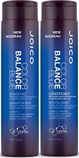 Joico Color Balance Blue Shampoo and Conditioner Set, 10.1-Ounce