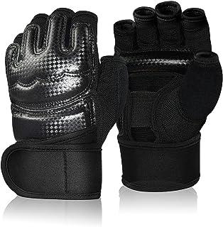 QINGLER X-Small Half Finger Gloves High Permeability Punch Bag Kickboxing Gloves Fit for Tae Kwon do Muay Thai Martial Art...