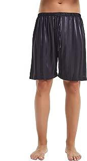 Mens Silk Satin Pajamas Boxer Shorts Sleepwear Boxers