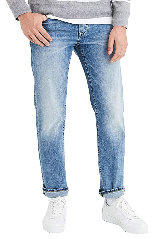 American Eagle Mens 4558936 Flex Original Straight Jean, Medium Wash