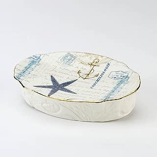 Avanti Linens Antigua Soap Dish, Multi
