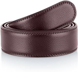 "Nelbons Men's Genuine Leather Belt without Buckle Ratchet Belt 35mm 1 3/8"""