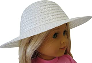White Straw Hat For American Girl by Doll Clothes Sew Beautiful