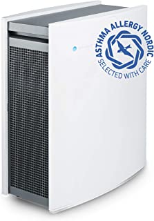 Blueair Air Purifier with HEPASilent Smokestop Filter With WiFi & AQM, Which Captures Allergens, Odors, Smoke, Mold, Dust, Germs, Pets, Smokers, Medium Room - White - Classic 405