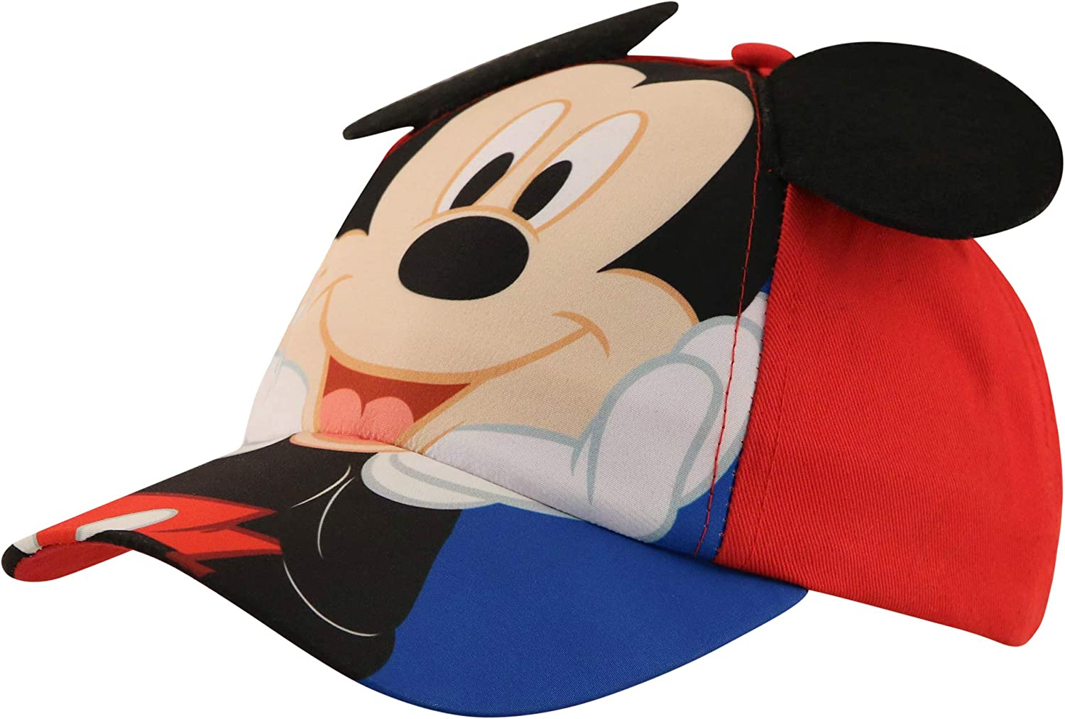 Disney Kids Baseball Hat for Boys Ages 2-7, Mickey Mouse Cap 3D Design