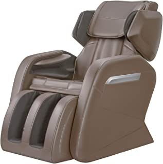 OOTORI Massage Chair Recliner, Zero Gravity Full Body Massage, Neck Back Legs and Foot Shiatsu Massager with Heat and Foot Rollers (coffee)