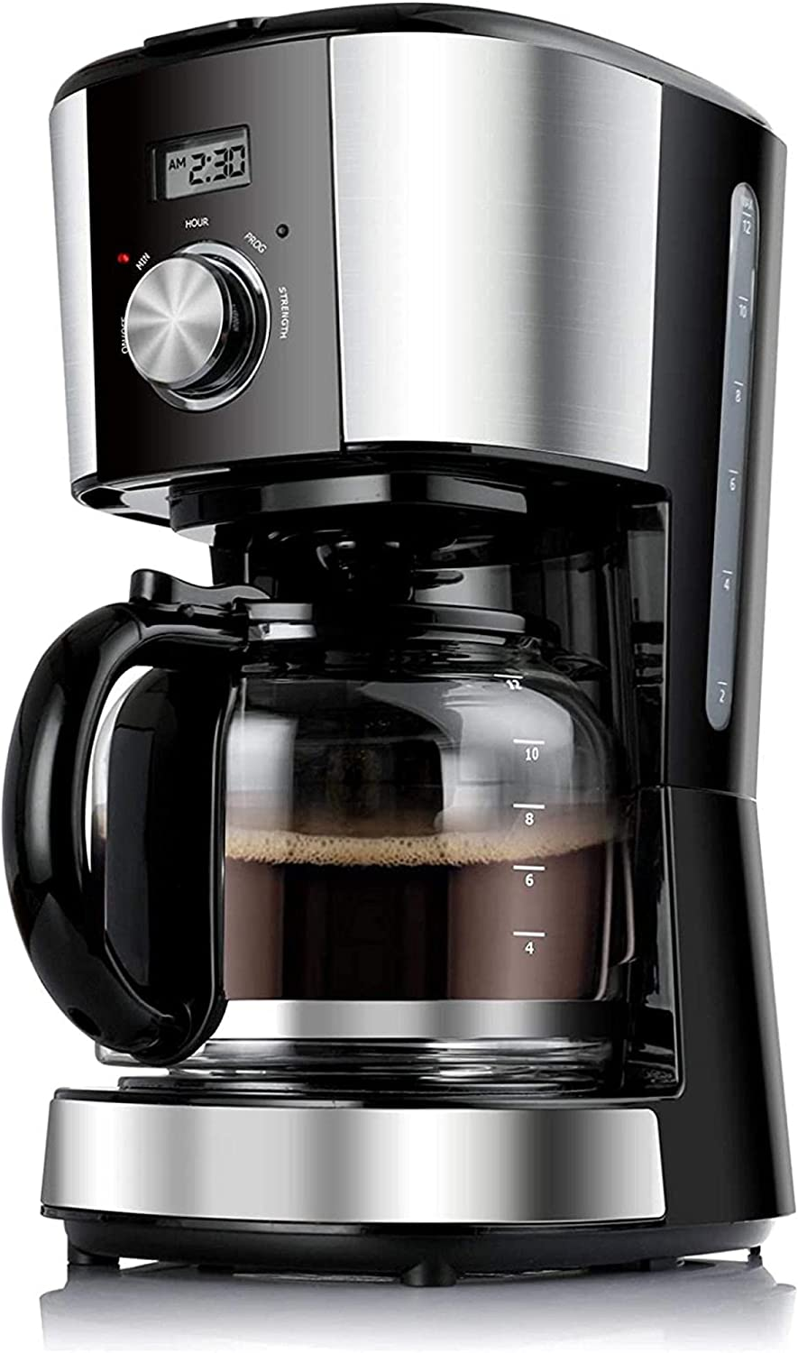 12-Cup Coffee Maker with Glass Carafe  Reusable Coffee Filter,