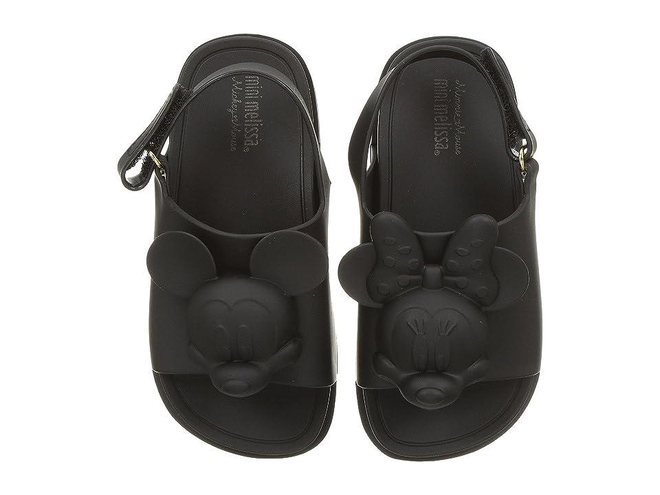Mini Melissa Mini Beach Slide Sandal + Disney (Toddler/Little Kid) (Black) Girls Shoes