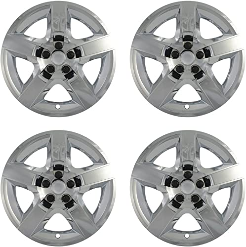 2021 17 inch Hubcaps high quality Compatible with 2008-2012 Chevrolet Malibu - Set of 4 Wheel Covers 17in Hub Caps Chrome Rim Cover - Car Accessories popular for 17 inch Wheels - Snap On, Auto Tire Replacement Exterior Cap online