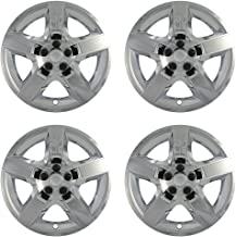 17 inch Hubcaps Best for 2008-2012 Chevrolet Malibu - (Set of 4) Wheel Covers 17in Hub Caps Chrome Rim Cover - Car Accessories for 17 inch Wheels - Snap On Hubcap, Auto Tire Replacement Exterior Cap)