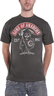 Officially Licensed SOA Redwood Original Red Patch Baseball 3//4 Sleeve T-Shirt