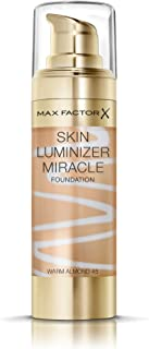 Max Factor Skin Luminizer Foundation - # 45 Warm Almond by Max Factor for Women - 30 ml Foundation, 30 milliliters