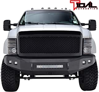Tidal Replacement F250 Mesh Grille Black Front Hood Upper Grill for 08-10 Ford F250/F350/F450 Super Duty