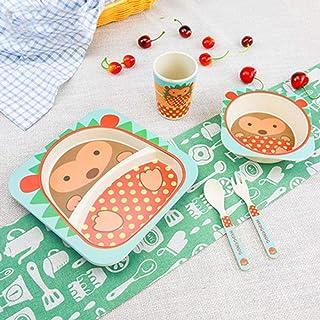 no se colocan en platos de bamb/ú cl/ásicos divididos gran set de regalo para beb/és rosa rosa Platos de alimentaci/ón con ventosa para beb/és y ni/ños peque/ños cuchara de beb/é Avanchy