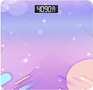 Básculas,báscula electrónica Peso Corporal Báscula baño Digital Cinta métrica y diseño Esquina Redonda,Pantalla LCD Grande retroiluminación,400 Libras(Color: A) Duradera