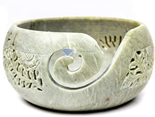 Stone Carved Beautiful Yarn Ball Storage Bowls | Yarn Storage Bowl & Accessories | Nagina International