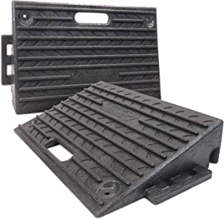 Street Solutions UK Rubber Kerb Ramps | Double Lightweight Mobility Threshold Ramps for Wheelchairs, Cars Vehicles, Carava...